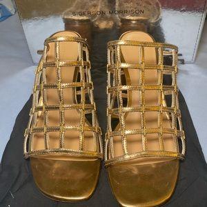 Sigerson Morrison Shoes - Sigerson Morrison Diana Cage Slide Sandal 38
